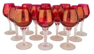Set of 12 Glass Wine Glasses