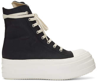 Rick Owens Black Double Bumper High-Top Sneakers