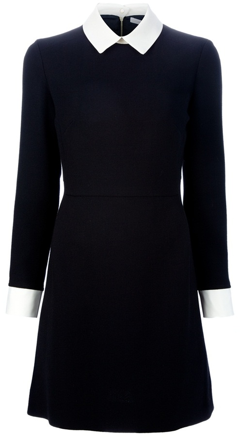 Victoria Beckham Victoria Contrast collar dress