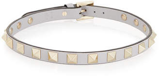 Valentino Small Rockstud Leather Choker Necklace