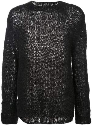 Ann Demeulemeester loose fit knit sweater