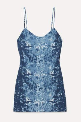 Reformation Seville Tie-dyed Georgette Mini Dress - Blue