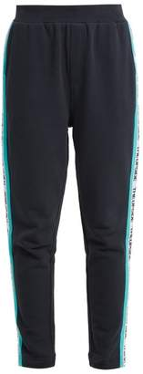 The Upside Side Stripe Cotton Performance Track Pants - Womens - Navy