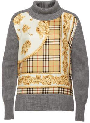 Burberry Bennachie Turtleneck Pullover in Merino Wool and Silk