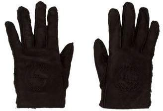 Gucci Leather Logo Gloves
