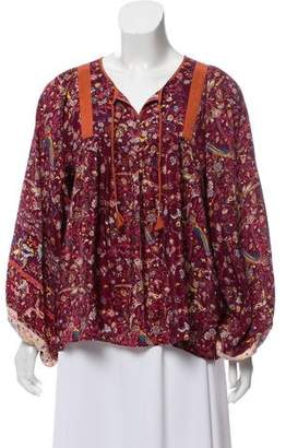 Ulla Johnson Silk Floral Blouse