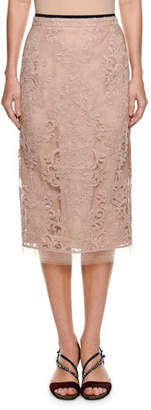 No.21 No. 21 Lace Pencil Skirt