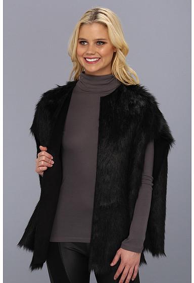 Calvin Klein Toscana Faux Fur Cape