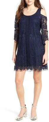 Women's Trixxi Lace Cold Shoulder Dress $49 thestylecure.com