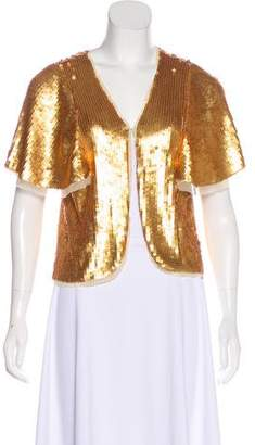 American Retro Sequin Short Sleeve Top