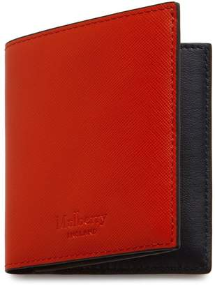 Mulberry Trifold Wallet Hibiscus Red Saffiano