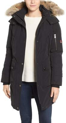 Pendleton 'Jackson' Hooded Down Parka with Genuine Coyote Fur Trim