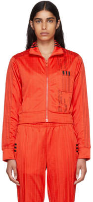 adidas by Alexander Wang Red Crop Track Jacket