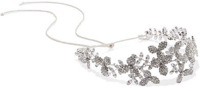 Jennifer Behr - Clementine Rhodium-plated Swarovski Crystal Headband - Silver