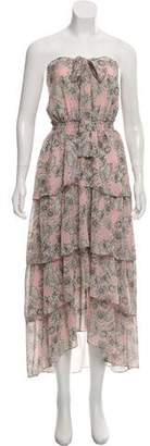 MISA Los Angeles Sleeveless Print Midi Dress