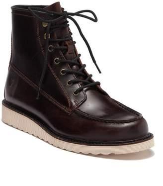 Frye Dawson Leather Wedge Workboot