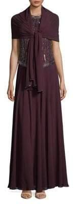 J Kara Sleeveless Sequined Dress