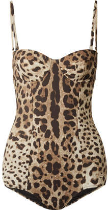 53dc52f1d2525 Dolce   Gabbana Leopard-print Swimsuit - Leopard print
