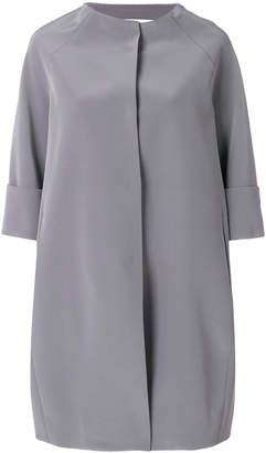 Gianluca Capannolo cropped sleeve collarless coat