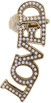 Gucci Gold Pearl Loved Ear Cuff