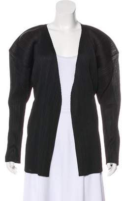 Issey Miyake Pleated Open Front Cardigan