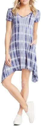 Karen Kane Tie Dye Sharkbite Hem Dress
