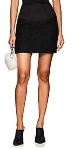 Alexander Wang Women's Neoprene & Tweed Miniskirt - Black