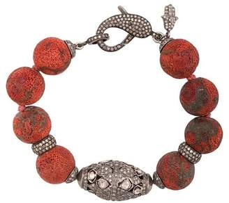 Loree Rodkin oversized bead clasp bracelet