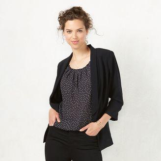 Women's LC Lauren Conrad Crepe Open-Front Blazer $64 thestylecure.com