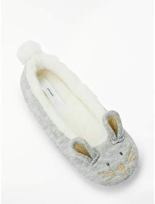36404b4172a9 John Lewis   Partners Bunny Faux Pom Slippers