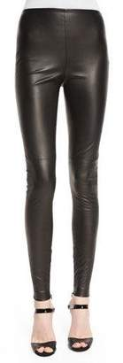 Ralph Lauren Collection Eleanora Leather Leggings, Black $1,990 thestylecure.com