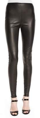 Ralph Lauren Collection Eleanora Leather Leggings, Black $1,990 thestylecure.com