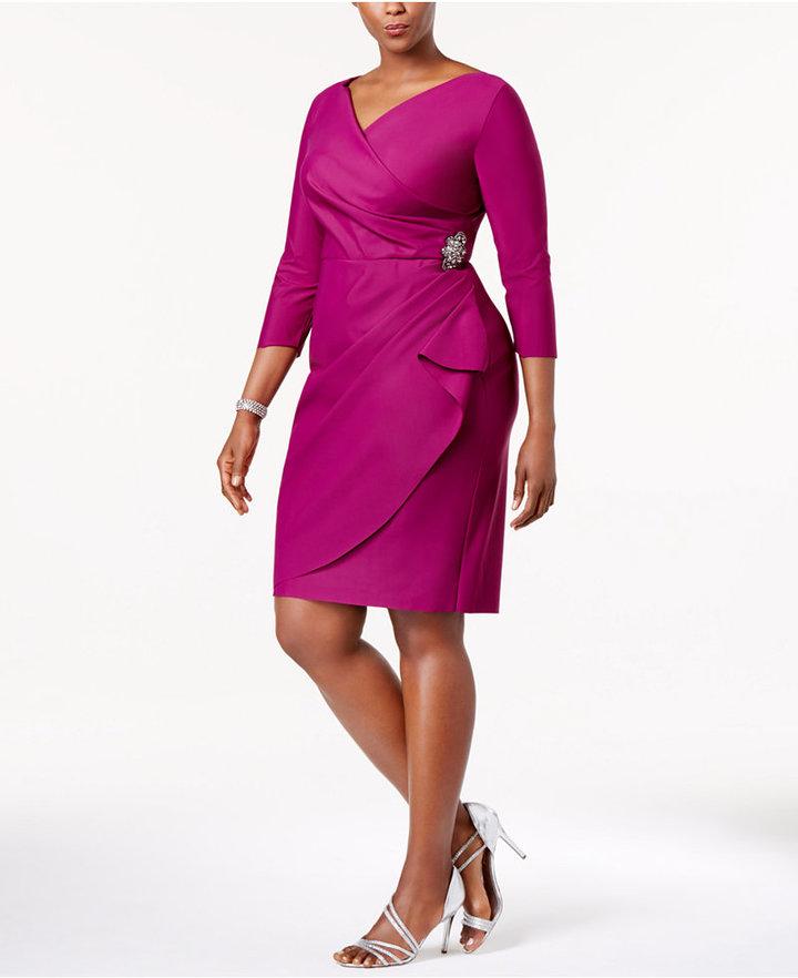 Alex EveningsAlex Evenings Plus Size Embellished Sheath Dress