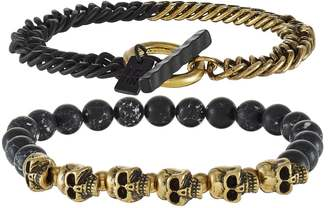 BONES BONES BONES 2 PACK Bracelet goldcoloured