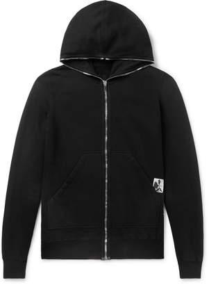Rick Owens Appliqued Fleece-Back Cotton-Jersey Hoodie - Men - Black