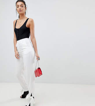 Missguided Tall Tie Ankle Cuff Cigarette Pant