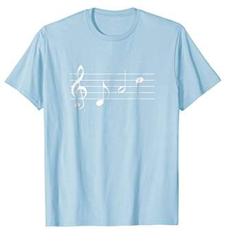 Music Dad T-shirt text in treble clef musical notes tshirt