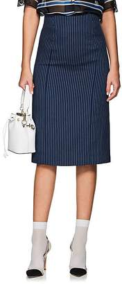 Fendi Women's Striped Cotton-Blend Pencil Skirt