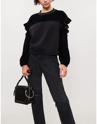 Pinko Elica cutout cotton-blend sweatshirt