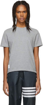 Thom Browne Grey Pique T-Shirt