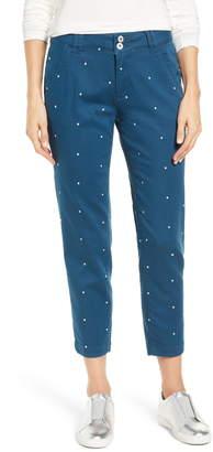 Jag Jeans Flora Polka Dot Crop Pants