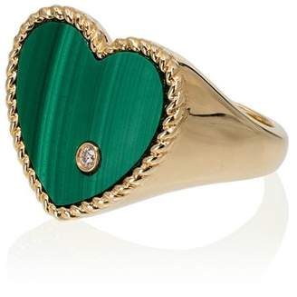 Leon Yvonne 18k gold, emerald and diamond ring