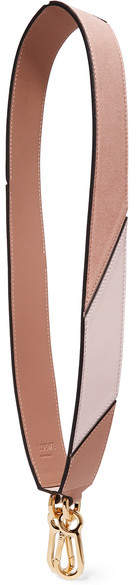 Loewe Puzzle Suede And Leather Bag Strap - Pink
