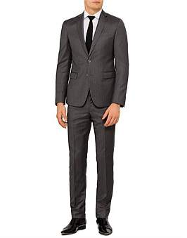 Versace Wool Herringbone Plain Suit