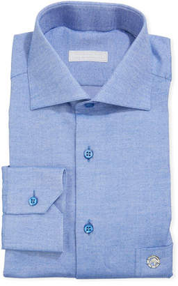 Stefano Ricci Men's Salerno Eagle Cotton Pique Dress Shirt