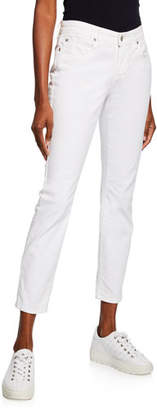 Eileen Fisher Organic Skinny Ankle Jeans, White, Plus Size