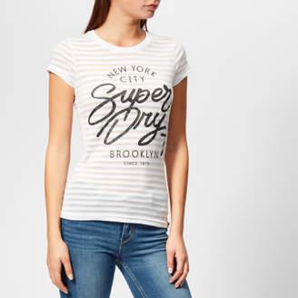 162d7258 Superdry Women's NYC Burnout Stripe Entry T-Shirt