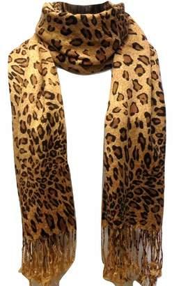 Tapp Collections Premium Fashion Animal Print Leopard Shawl Scarf Wrap - Greg Pink Leopard