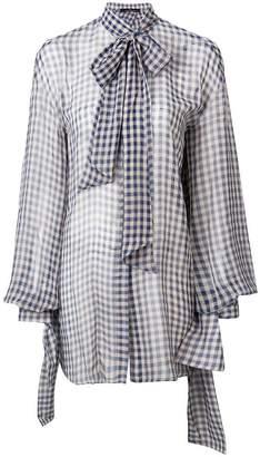Rokh sheer checked blouse