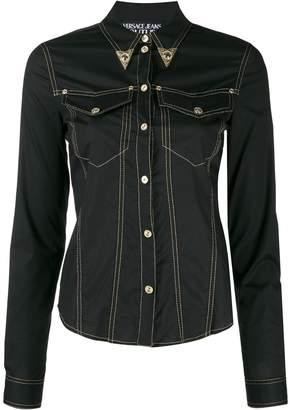 Versace denim western shirt